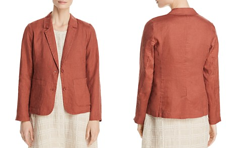 Eileen Fisher Petites Patch Pocket Linen Blazer - Bloomingdale's_2