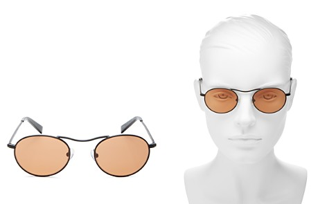 KENDALL and KYLIE Tasha Brow Bar Round Sunglasses, 49mm - Bloomingdale's_2