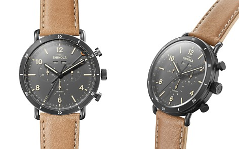 Shinola Canfield Beige Strap Chronograph, 45mm - Bloomingdale's_2