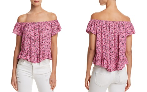 En Créme Ditsy Floral-Print Off-the-Shoulder Top - 100% Exclusive - Bloomingdale's_2