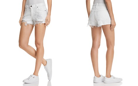 Pistola Asher Girlfriend Distressed Denim Shorts in White Lies - Bloomingdale's_2