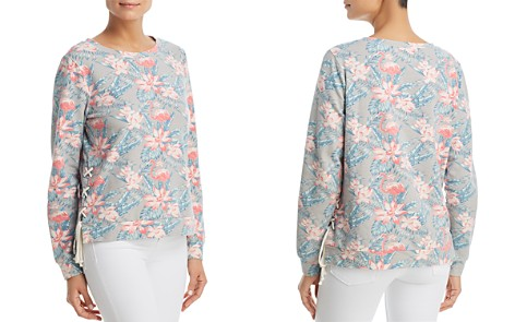 Billy T Tropical Print Lace-Up Sweatshirt - Bloomingdale's_2