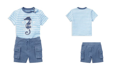 Ralph Lauren Boys' Striped Seahorse Tee & Cargo Shorts Set - Baby - Bloomingdale's_2