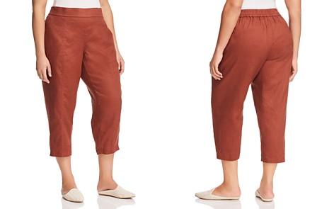 Eileen Fisher Plus Organic Linen Ankle Pants - Bloomingdale's_2