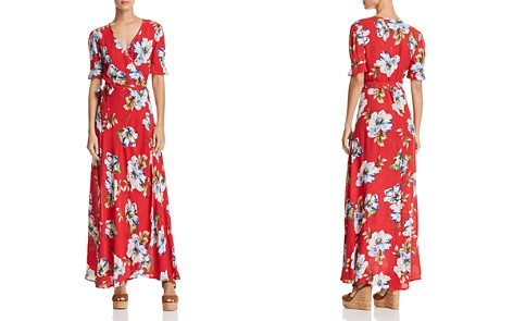 Band of Gypsies Blue Moon Floral-Print Wrap Dress - Bloomingdale's_2