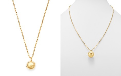 "Bloomingdale's Bead Pendant & Rope Chain Necklace in 14K Yellow Gold, 31.5"" - 100% Exclusive_2"