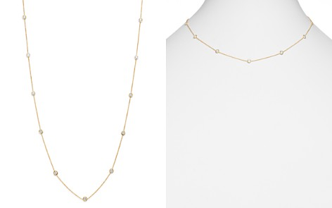 Diamond Station Necklace in 14K Yellow Gold, 1.0 ct. t.w. - 100% Exclusive - Bloomingdale's_2