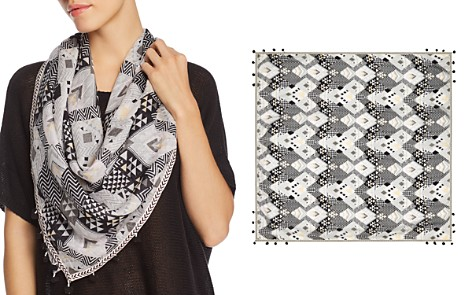 AQUA Chevron Diamond Square Scarf - Bloomingdale's_2
