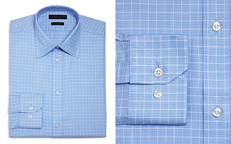 The Men's Store at Bloomingdale's Micro Windowpane Regular Fit Dress Shirt - 100% Exclusive_2