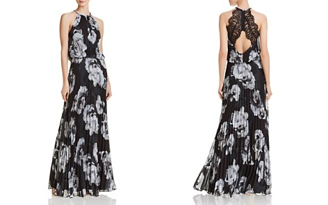 Avery G Floral Pleated Chiffon Gown - Bloomingdale's_2