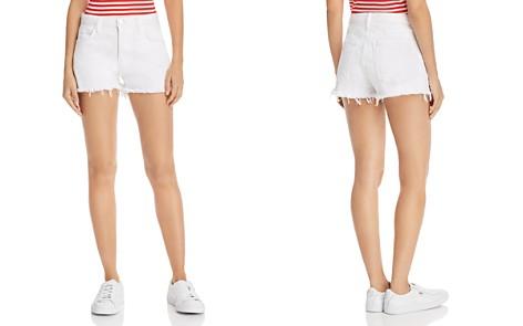 Current/Elliott High-Rise Frayed Denim Shorts in Sugar - Bloomingdale's_2