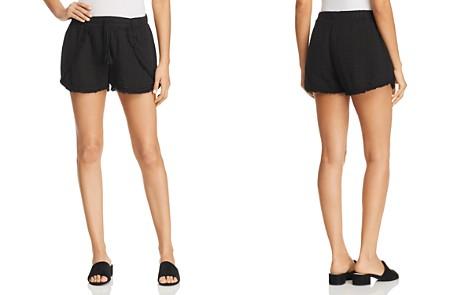 Three Dots Frayed Hem Shorts - Bloomingdale's_2