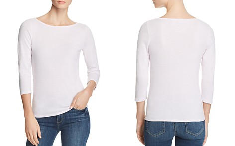 Three Dots Boatneck Montauk-Stripe Tee - Bloomingdale's_2