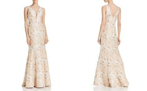 Aidan Mattox Floral Brocade Gown - Bloomingdale's_2