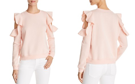 Rebecca Minkoff Gracie Ruffled Cold-Shoulder Sweatshirt - Bloomingdale's_2