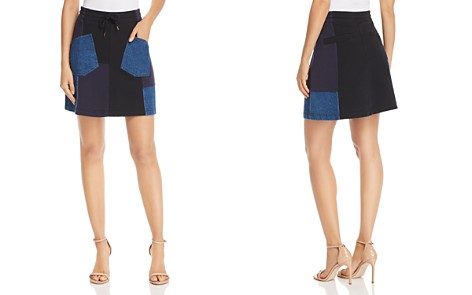 McQ Alexander McQueen Denim Patchwork Skirt - Bloomingdale's_2