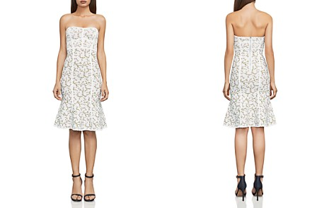 BCBGMAXAZRIA Lynne Floral Jacquard Strapless Dress - Bloomingdale's_2