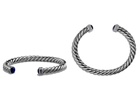 David Yurman Cable Classic Cuff Bracelet with Lapis Lazuli - Bloomingdale's_2