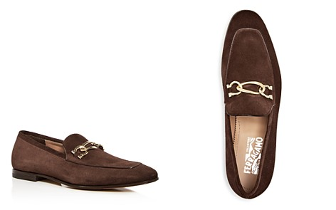 Salvatore Ferragamo Men's Suede Apron-Toe Loafers - 100% Exclusive - Bloomingdale's_2