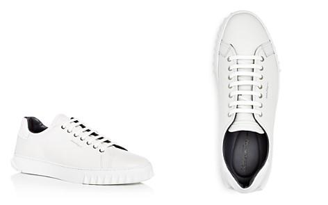 Salvatore Ferragamo Men's Leather Lace Up Sneakers - Bloomingdale's_2