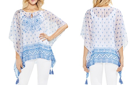 VINCE CAMUTO Sheer Medallion-Print Poncho - Bloomingdale's_2
