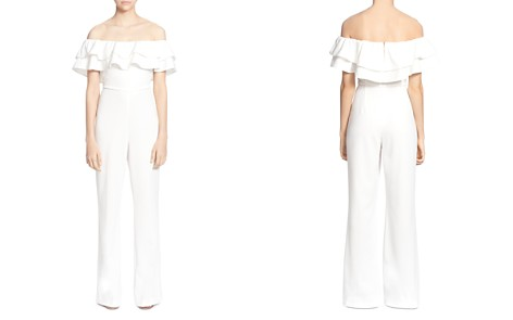 CATHERINE Catherine Malandrino Lelio Ruffled Off-the-Shoulder Jumpsuit - Bloomingdale's_2