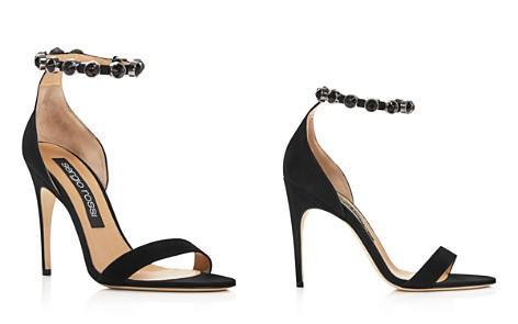 Women's Sergio Rossi Embellished Suede High-Heel Sandals - Bloomingdale's_2