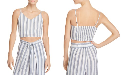AQUA Striped Cropped Top - 100% Exclusive - Bloomingdale's_2