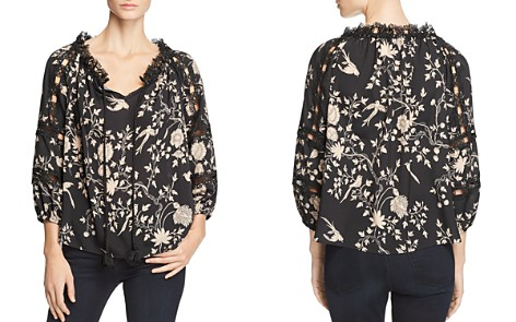 Le Gali Louisa Botanical Lace-Trim Top - 100% Exclusive - Bloomingdale's_2