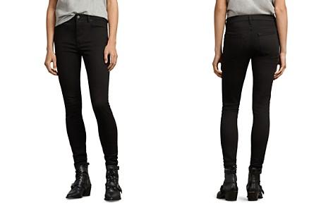 ALLSAINTS Stilt High-Rise Skinny Jeans in Jet Black - Bloomingdale's_2