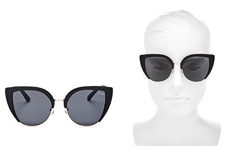 Quay Oh My Dayz Cat Eye Sunglasses, 58mm - Bloomingdale's_2