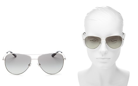 Tory Burch Brow Bar Aviator Sunglasses, 59mm - Bloomingdale's_2