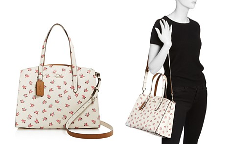 COACH Floral Print Leather Casual Cooper Tote - Bloomingdale's_2