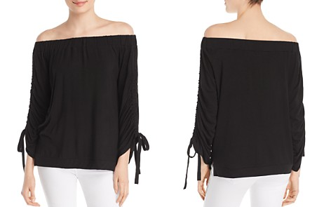 Alison Andrews Off-the-Shoulder Cinched-Sleeve Top - Bloomingdale's_2