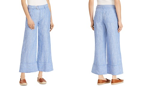 Lauren Ralph Lauren Linen Wide-Leg Crop Pants - 100% Exclusive - Bloomingdale's_2