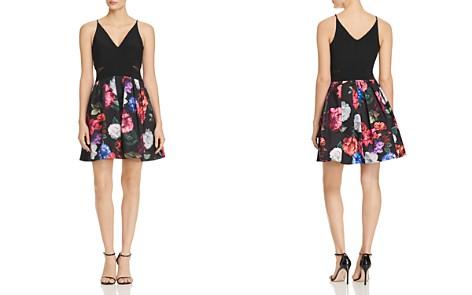 AQUA Mixed-Media Mini Dress - 100% Exclusive - Bloomingdale's_2