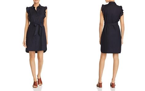 T Tahari Pinstriped Ruffle-Trim Shirt Dress - Bloomingdale's_2