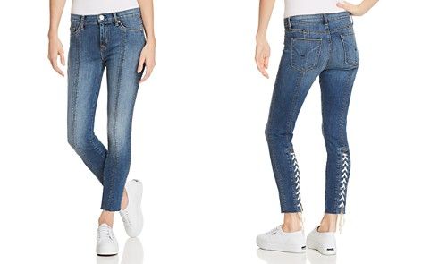 Hudson Nico Lace-Up Skinny Jeans in Unfamed - Bloomingdale's_2