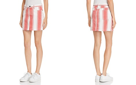 FRAME Le Mini Striped Denim Skirt - Bloomingdale's_2