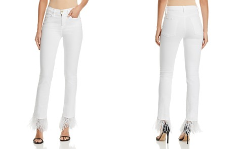 FRAME Le High Straight-Leg Embellished Jeans in Blanc - Bloomingdale's_2