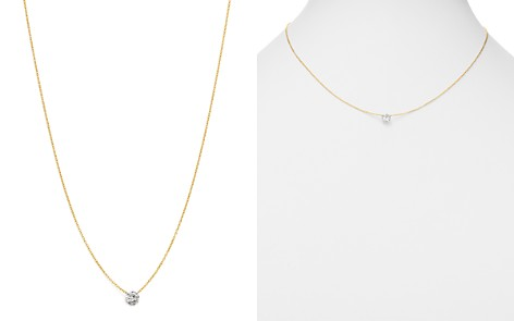 "AeroDiamonds 18K Yellow Gold Solo Diamond Necklace, 18"" - Bloomingdale's_2"