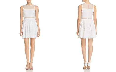 AQUA Mesh-Inset Lace Dress - 100% Exclusive - Bloomingdale's_2