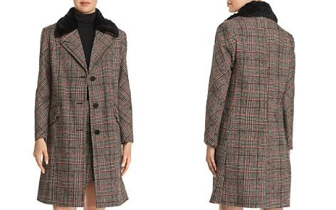 McQ Alexander McQueen Faux-Fur-Trimmed Plaid Coat - Bloomingdale's_2