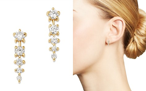 Bloomingdale's Diamond Graduated Linear Drop Earrings in 14K Yellow Gold - 100% Exclusive _2