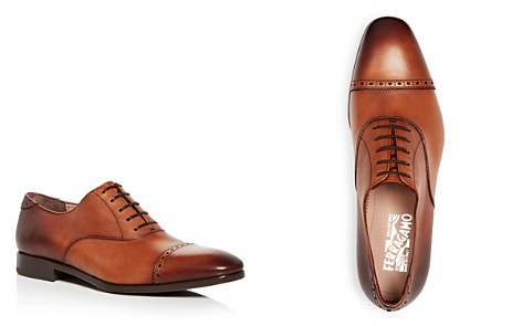 Salvatore Ferragamo Men's Leather Brogue Cap Toe Oxfords - Bloomingdale's_2