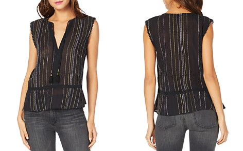 Michael Stars Topstitched Sleeveless Top - Bloomingdale's_2
