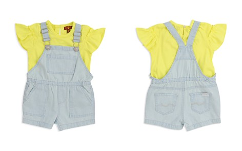 7 For All Mankind Girls' Sunny Tee & Shortall Set - Baby - Bloomingdale's_2