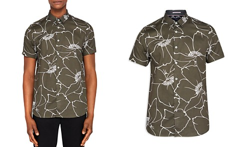 Ted Baker Andle Linear Floral Regular Fit Button-Down Shirt - Bloomingdale's_2