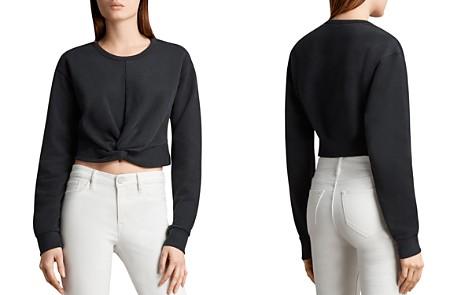 ALLSAINTS Paloma Twist-Front Cropped Sweatshirt - Bloomingdale's_2