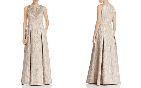 Eliza J Embellished Metallic Gown - Bloomingdale's_2